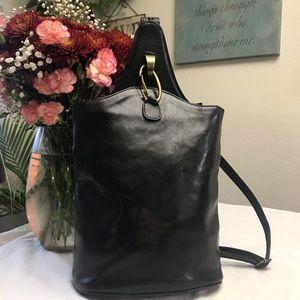 Italian leather backpack